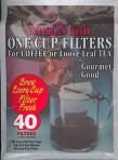 One Cup Filters For Loose Leaf Tea, 40-count